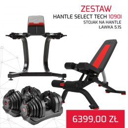 BOWFLEX HANTLE 1090I SELECT TECH x2 + ŁAWKA 5.1S + STOJAK