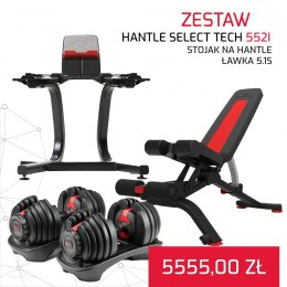 BOWFLEX HANTLE 552I SELECT TECH x 2 + ŁAWKA 5.1S + STOJAK NA HANTLE